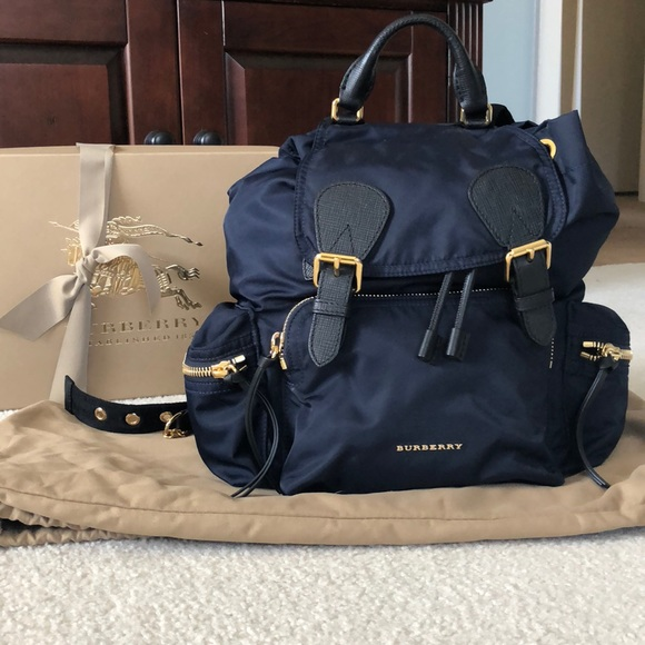 15843b63bba87 Burberry Handbags - Burberry Navy Medium Rucksack EUC Backpack